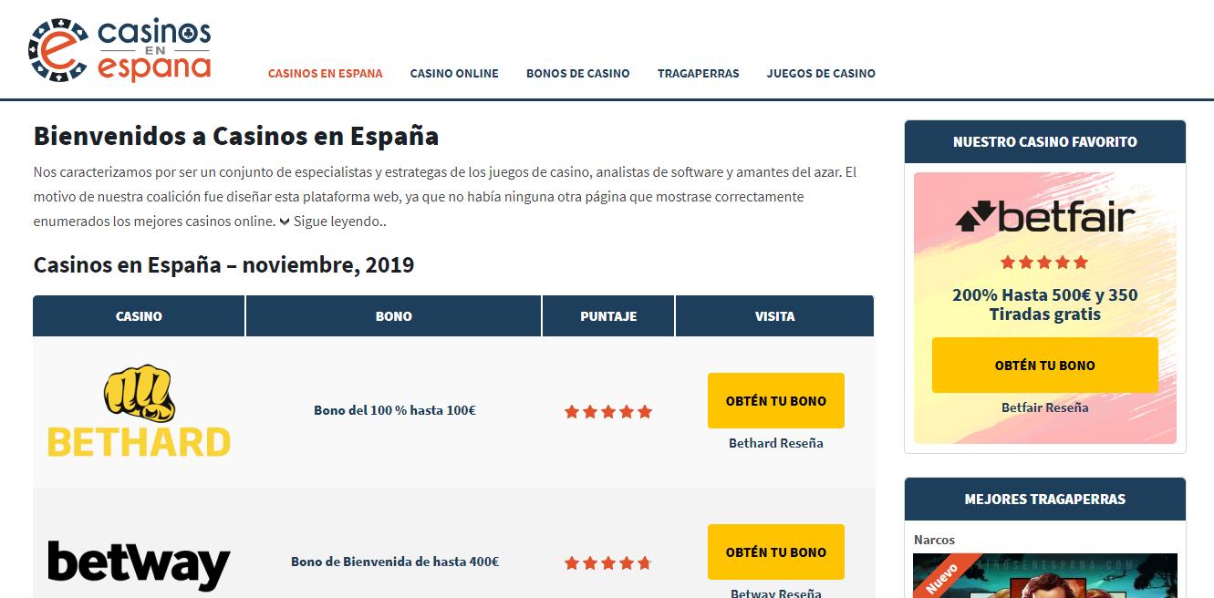 Casinos en Espana