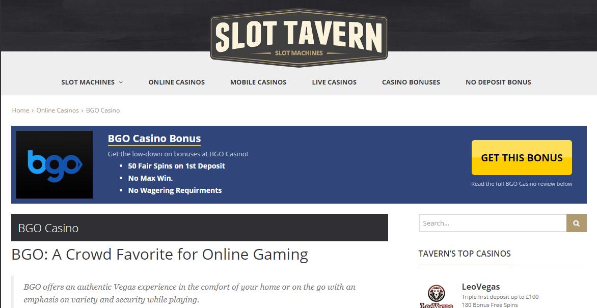 Slot Tavern